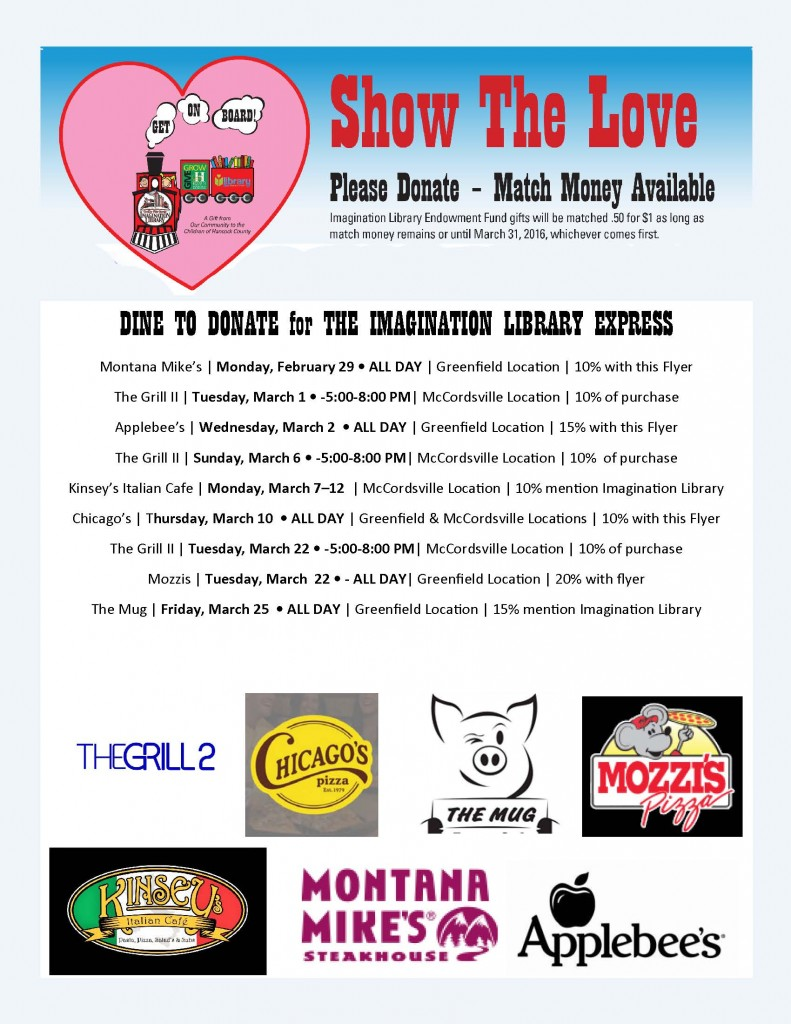 NEW Show the Love Dine to Donate